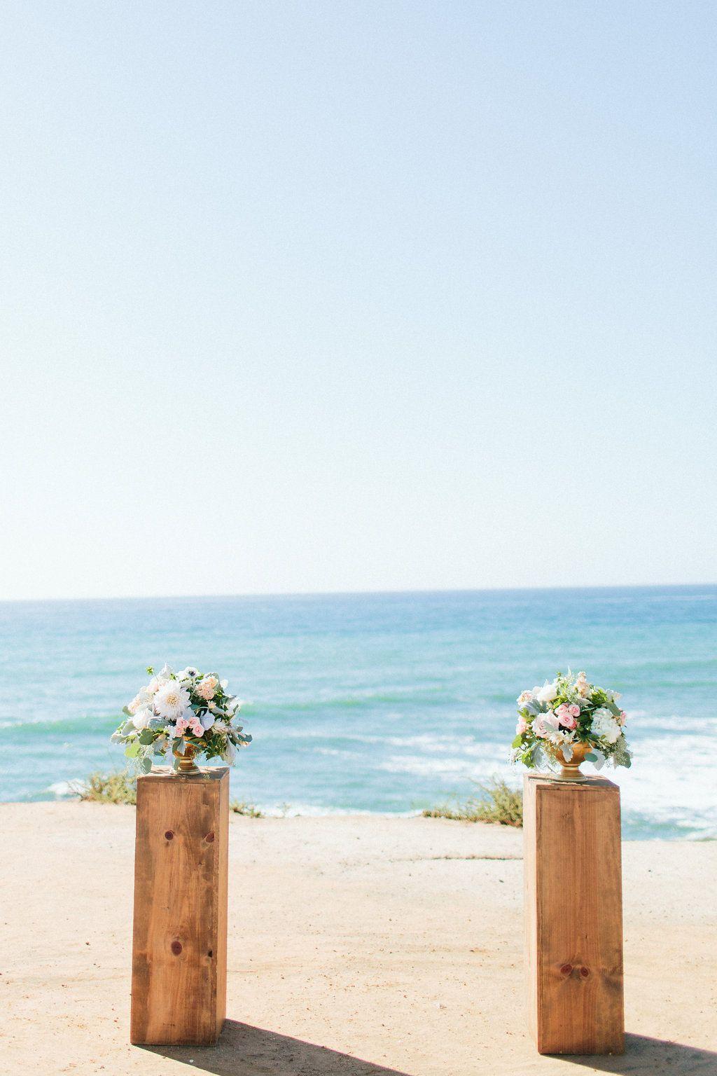 Bali wedding venues on the beach  Beach wedding ceremony  La Jolla Weddings  Compass Floral Design