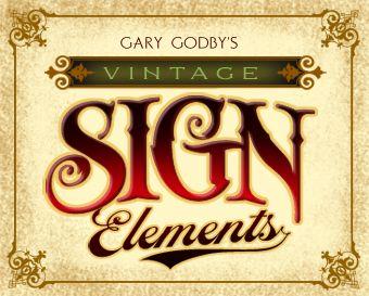 Letterhead Fonts / LHF Vintage Sign Elements / Classic Panels ...