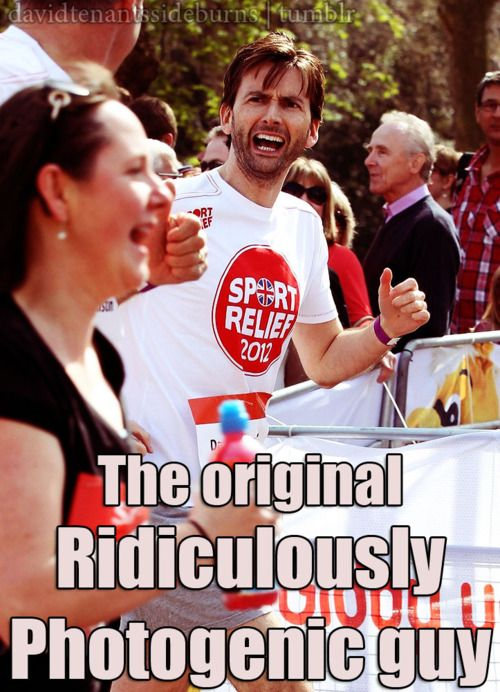 David Tennant: the original Ridiculously Photogenic guy.