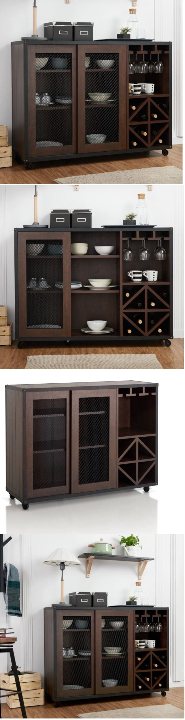 Sideboards and buffets liquor storage cabinet home mini bar