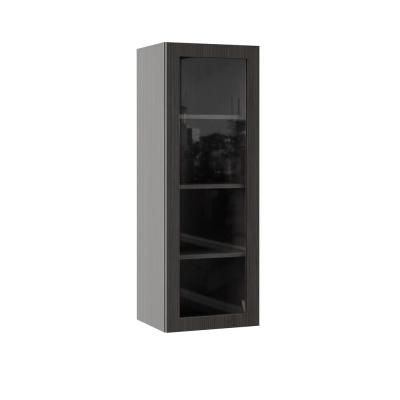 Hampton Bay Designer Series Edgeley Assembled 15x42x12 In Wall Kitchen Cabinet With Glass Door In Thunder Wgd1542 Edth The Home Depot Glass Kitchen Cabinet Doors Glass Cabinet Doors Hampton Bay Designer Series