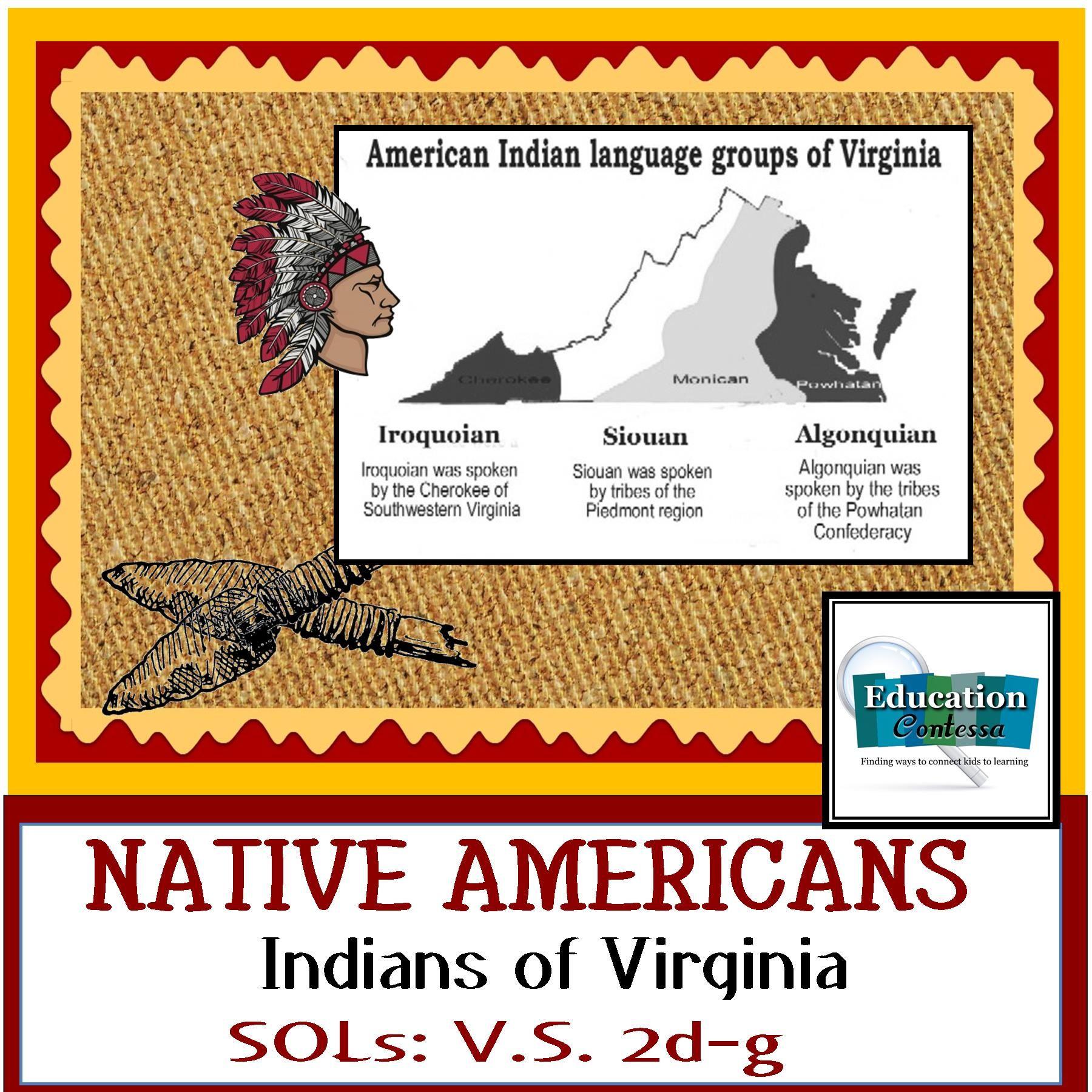 NATIVE AMERICAN INDIANS OF VIRGINIA - SOLs for Virginia