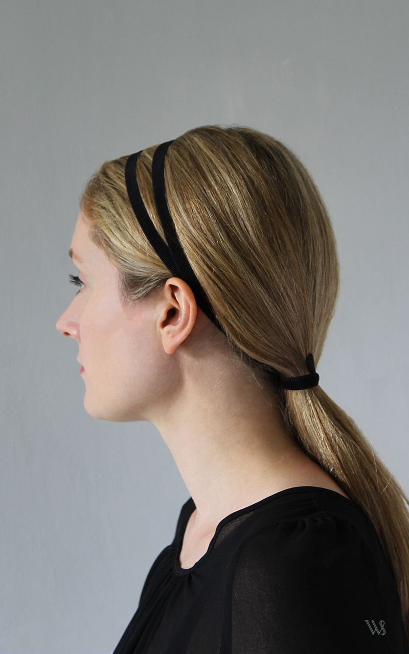 Simple Headband Hairstyle For Long Hair With A Double Strand
