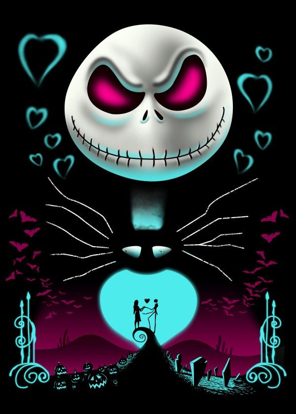 Jack from the Halloween Town Cartoons Poster Print | metal ...