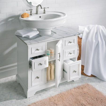 Pedestal Sink Cabinet With Marble Top Pedestal Sink