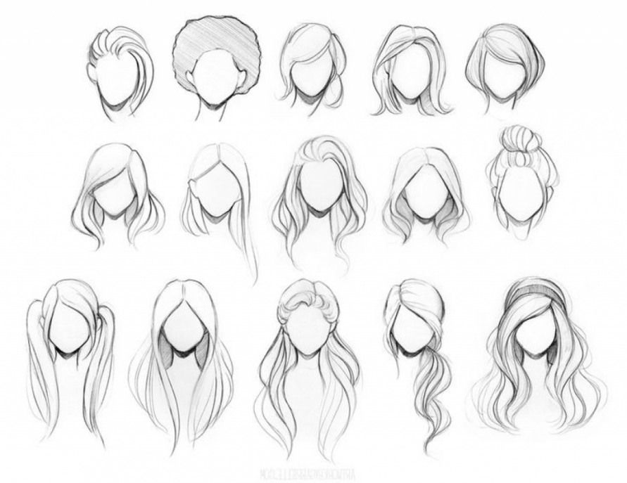Hairstyles To Draw Easy Hair Style 2018 Drawing Skill Risovanie Volos Risovanie Zhenshiny Eskiz Pricheski