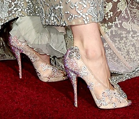 e017eab3dd6e Lily James Is Real-Life Cinderella at Premiere  Red Carpet Dress .