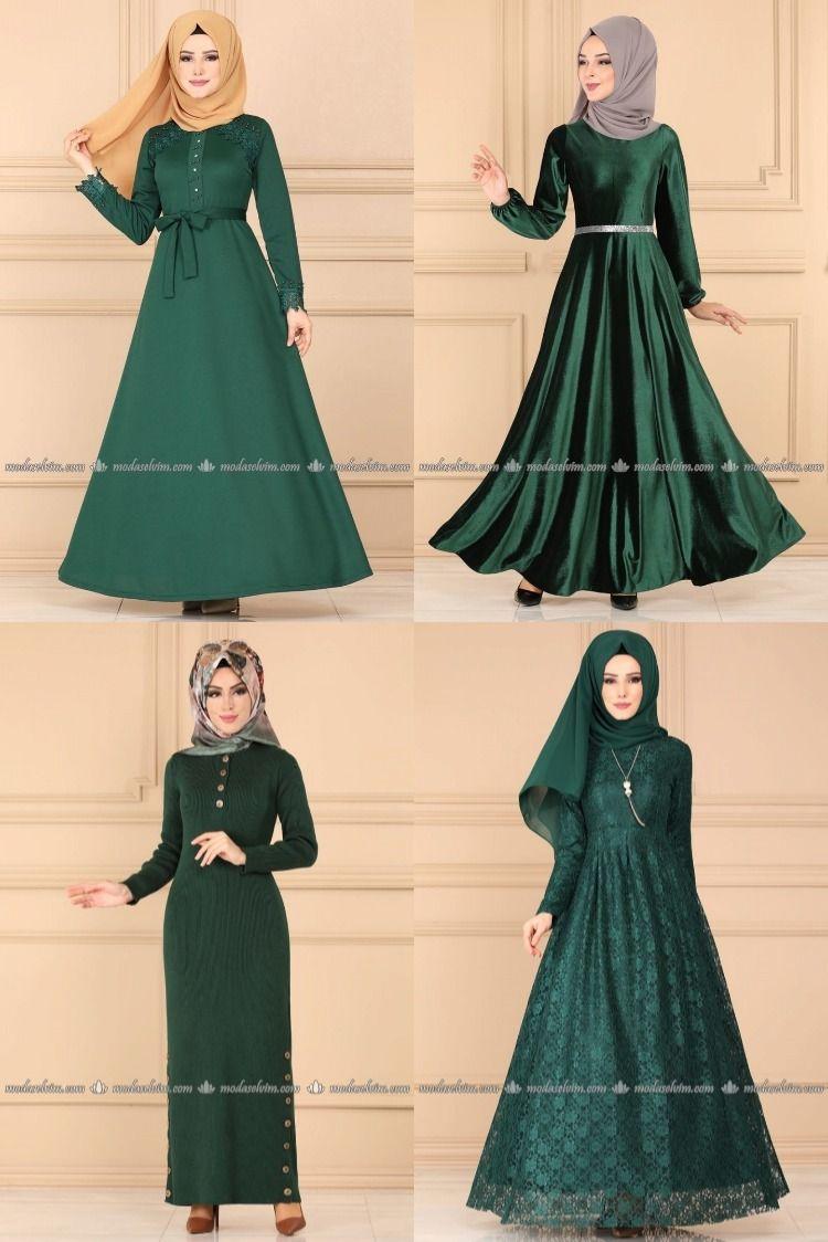 Photo of 2020 Kış Modaselvim Zümrüt Yeşil Tesettür Elbise Modelleri   Modaselvim Elbise Modelleri