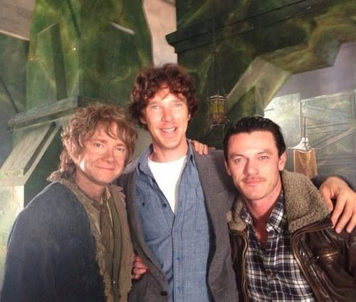 On the Hobbit set