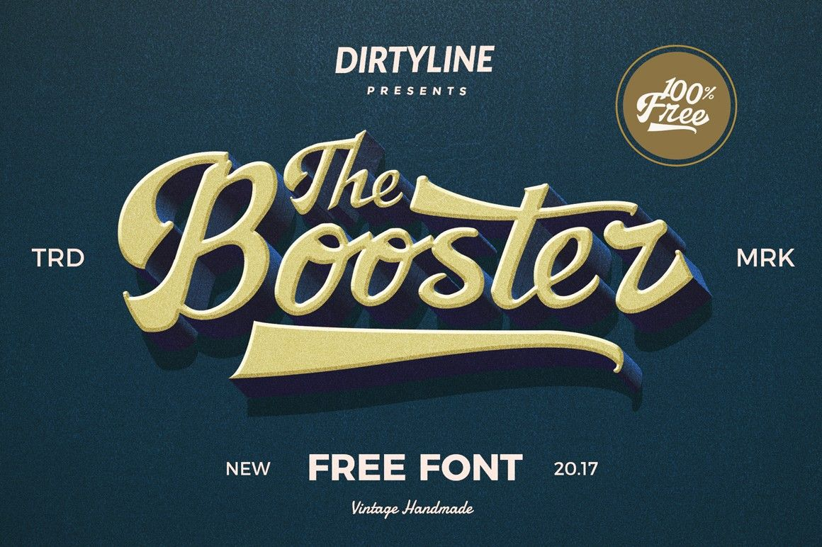 The Booster Free Font Free Fonts Fribly Vintage Fonts Vintage Fonts Free Free Font