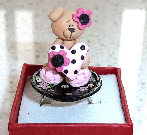 Japanese Kawaii Ring  Valentine Bear