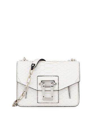 5d64762b778 Hava Matte Python Chain Crossbody Bag White | Wear it | Designer ...