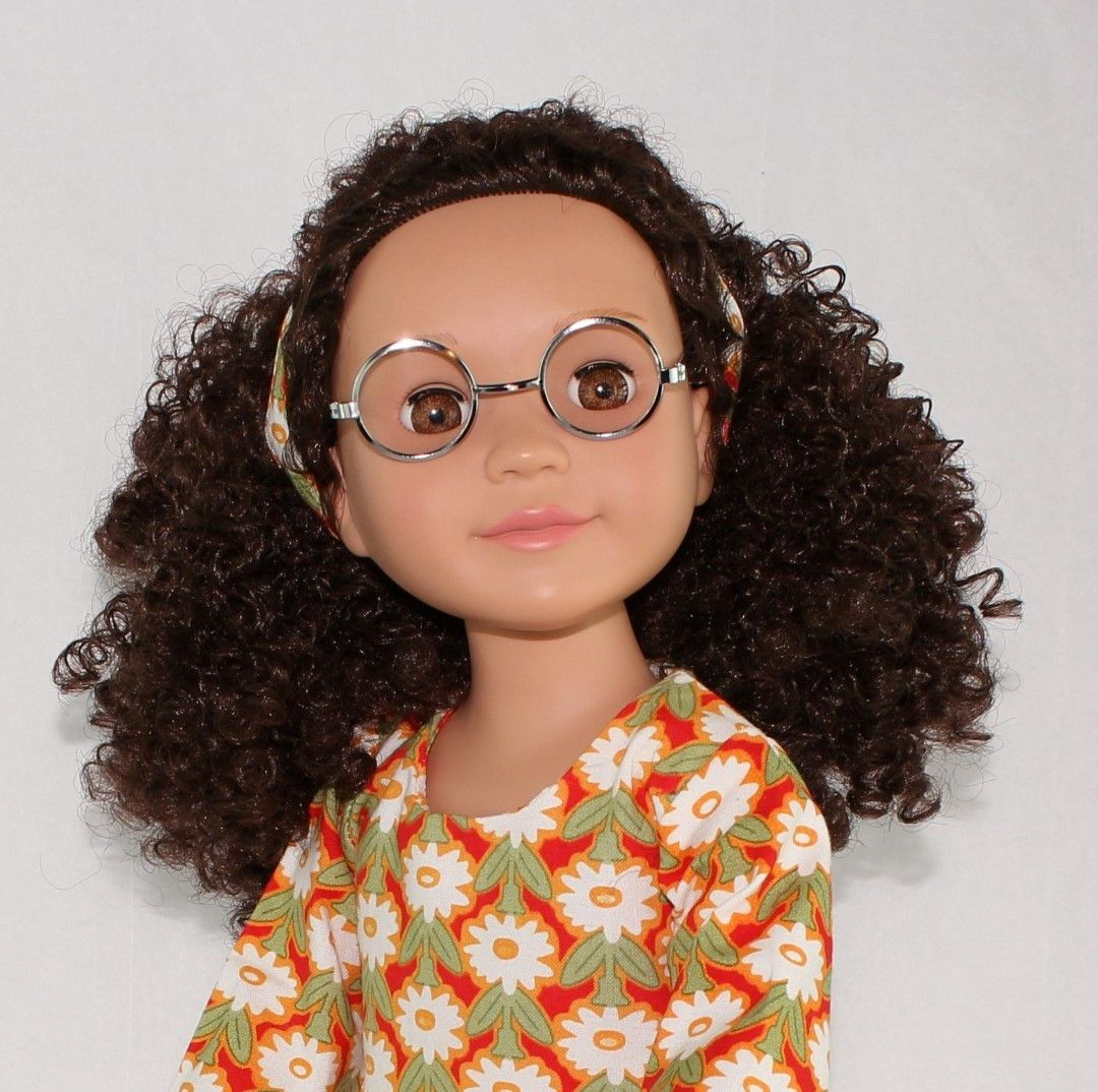 Curly girls united dolls doll with glasses