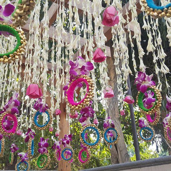 Mehndi Flower Decoration : The biggest trends in diy mehndi decoration ideas we ve