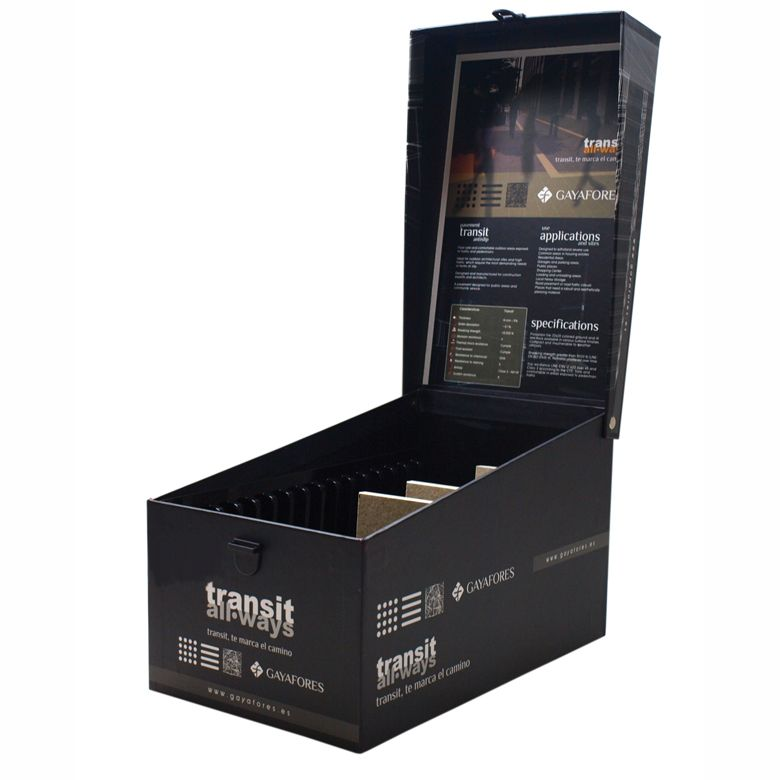 Xl Size Sample Display Box For Ceramic Tile Samples With A Lid And