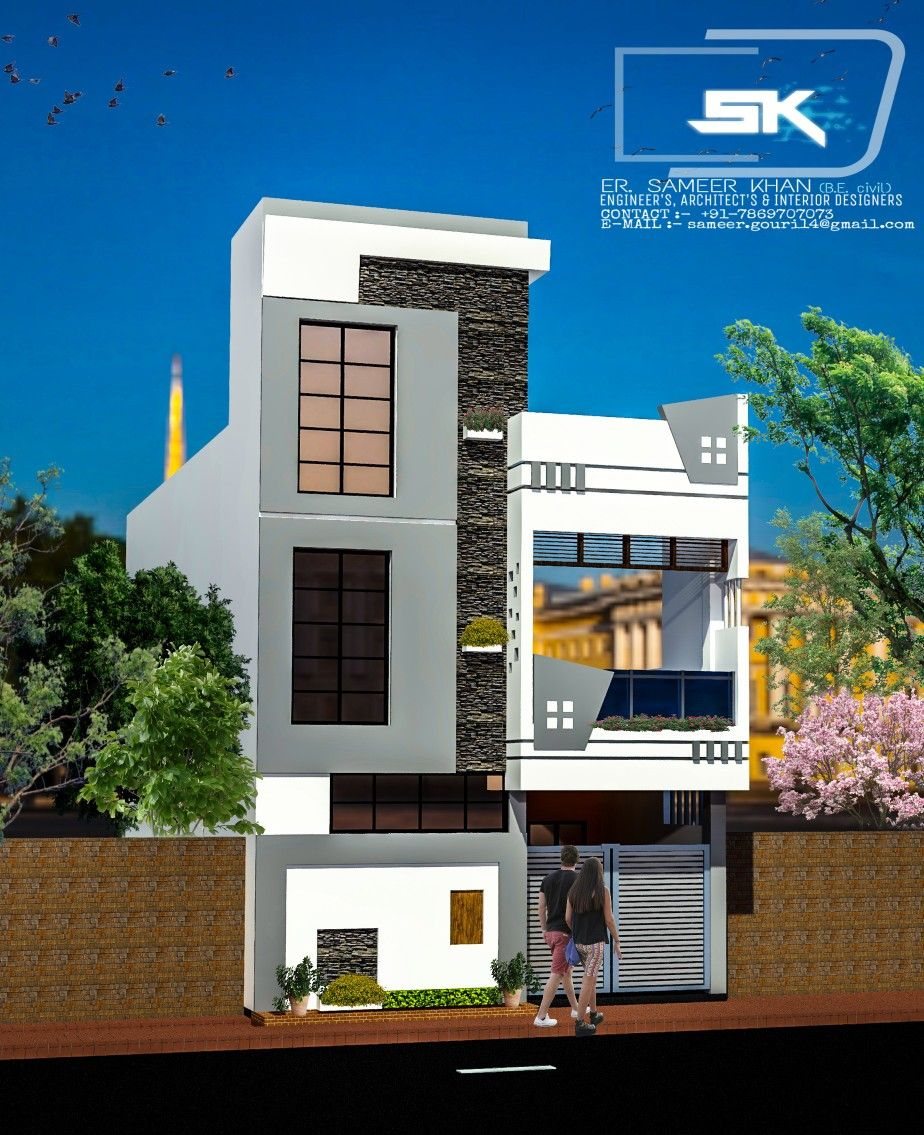 Introducing Modern House Elevation Design In 20' Front G+1