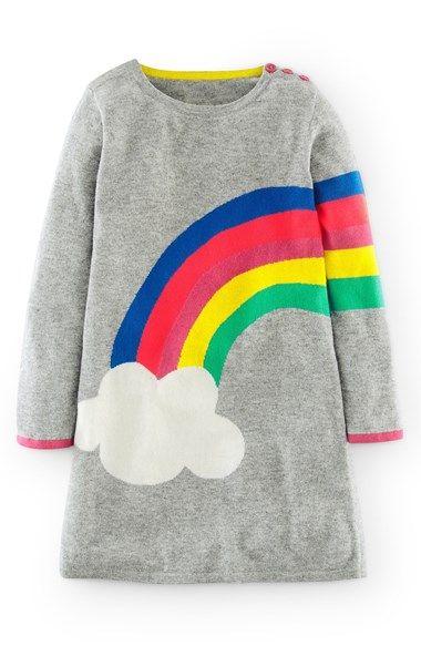 4a075c510 Mini Boden Rainbow Knit Dress (Toddler Girls