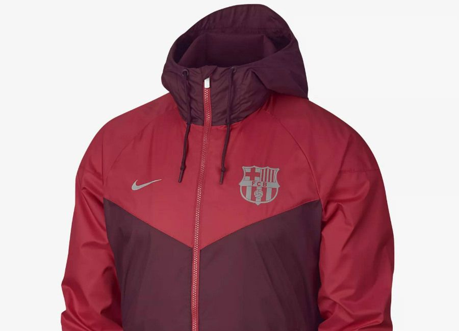 nikefootball  barca FC Barcelona 2018-19 Nike Windrunner - Deep Maroon    Tropical Pink 3884d285820