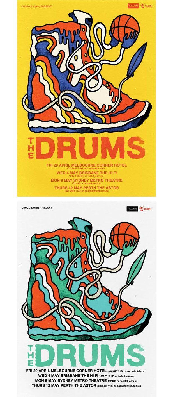the drums cool band poster design illustration pinterest
