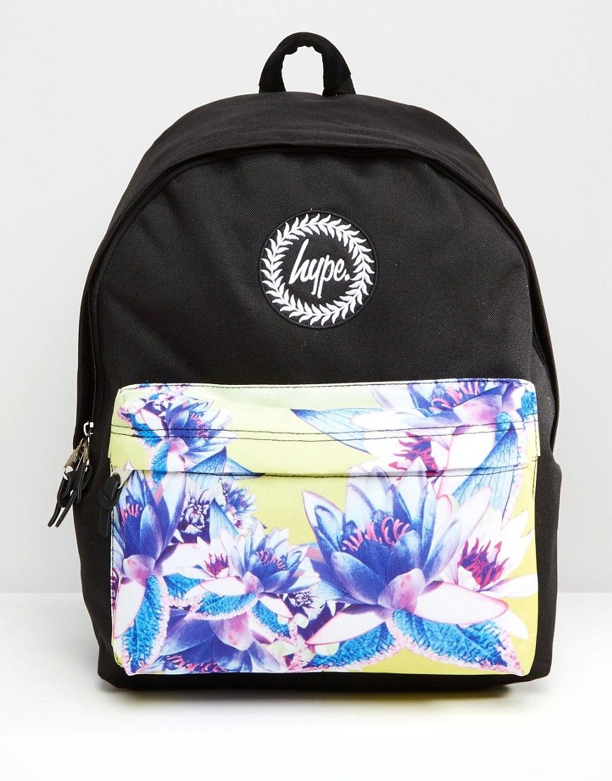 Hype Exclusive Floral Contrast Pocket Backpack | Wishlist | Pinterest | Backpacks Floral And Bag