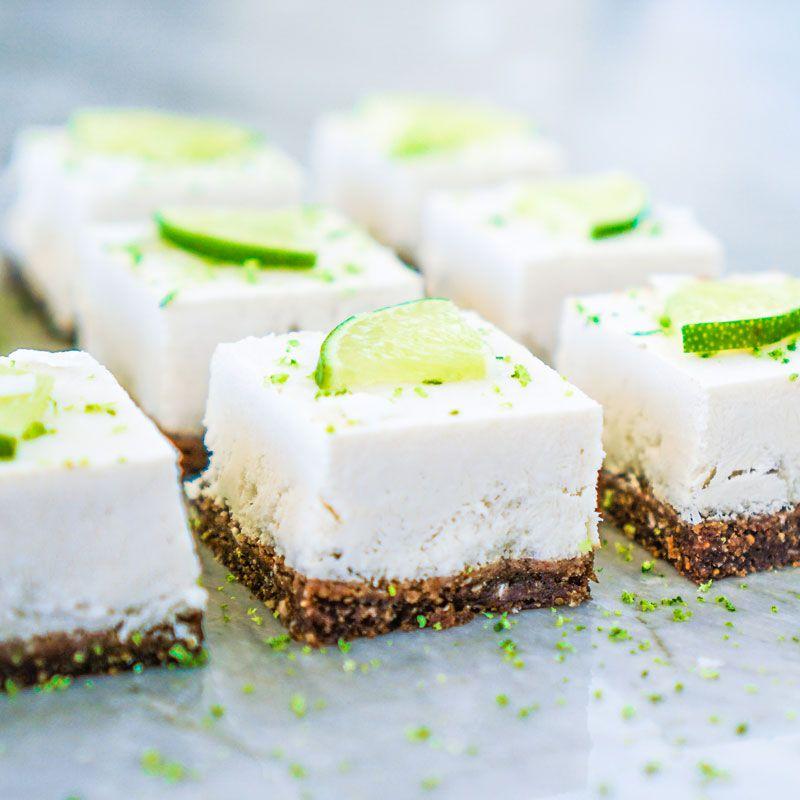 Veganer Kokos-Käsekuchen - ohne backen - Veganes Kuchenrezept