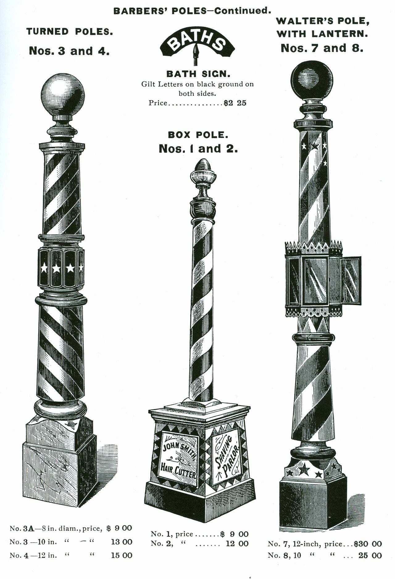 Free Standing Barber Poles From Koken S Supply Michael