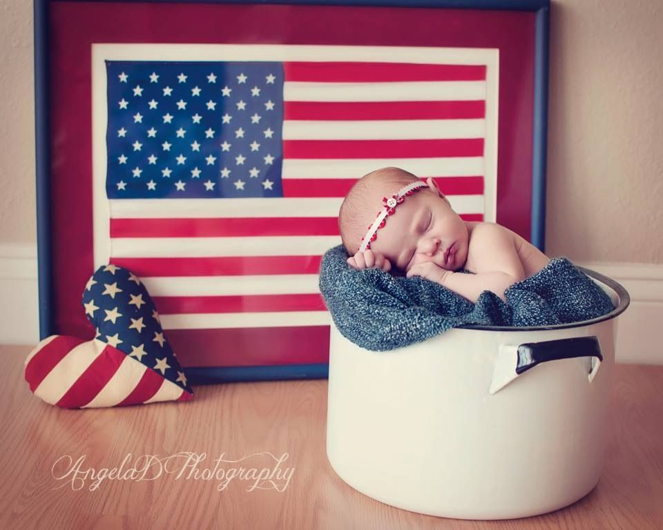 Eleanor 4th of july baby pictures