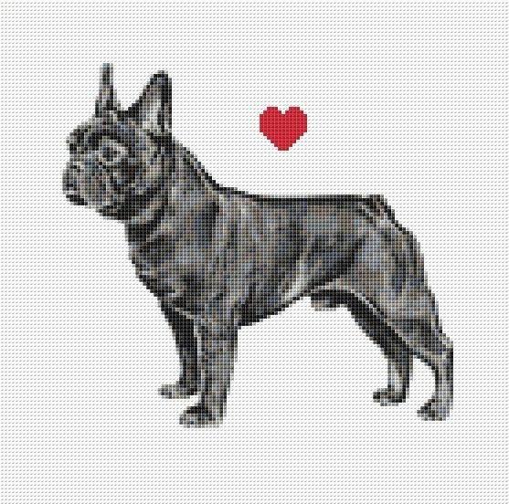 French Bulldog Cross Stitch Pattern Instant Pdf Digital Disney Cross Stitch Cross Stitch Charts Cross Stitch Patterns