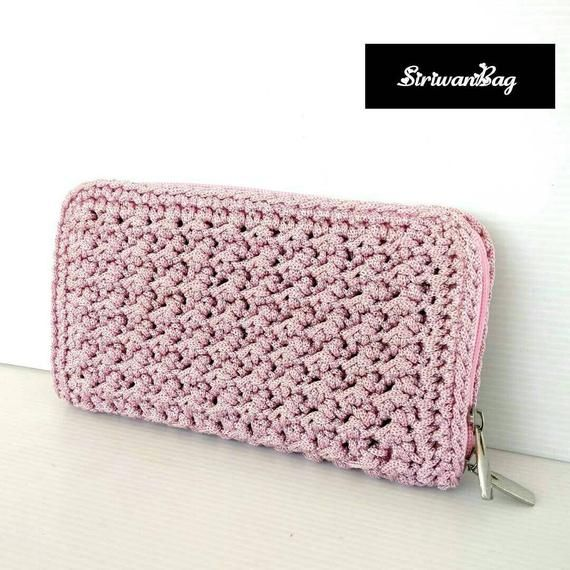 Crochet wallet,crochet wallet, crochet purse, crochet clutch, crochet bag,hand bag, Gift for mom