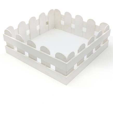 White wooden picket fence crate 27 cm hobbycraft geschenke buy white wooden picket fence crate 27 cm from the easter decorations range at hobbycraft negle Choice Image