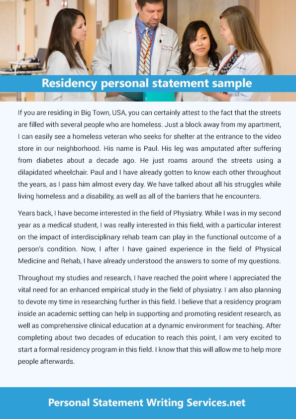 This is a great platform that provides the residency personal - personal statement sample