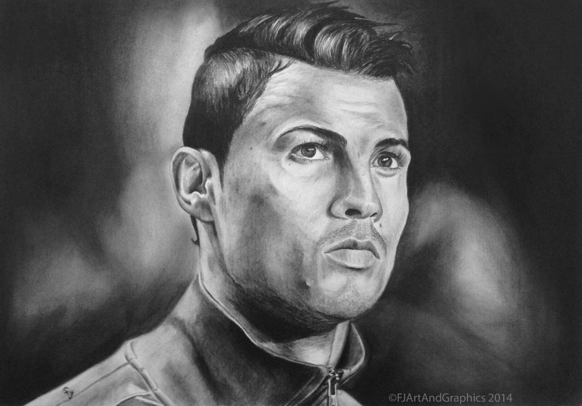 Cristiano ronaldo pencil drawing hd wallpaper 1920x1080 sports
