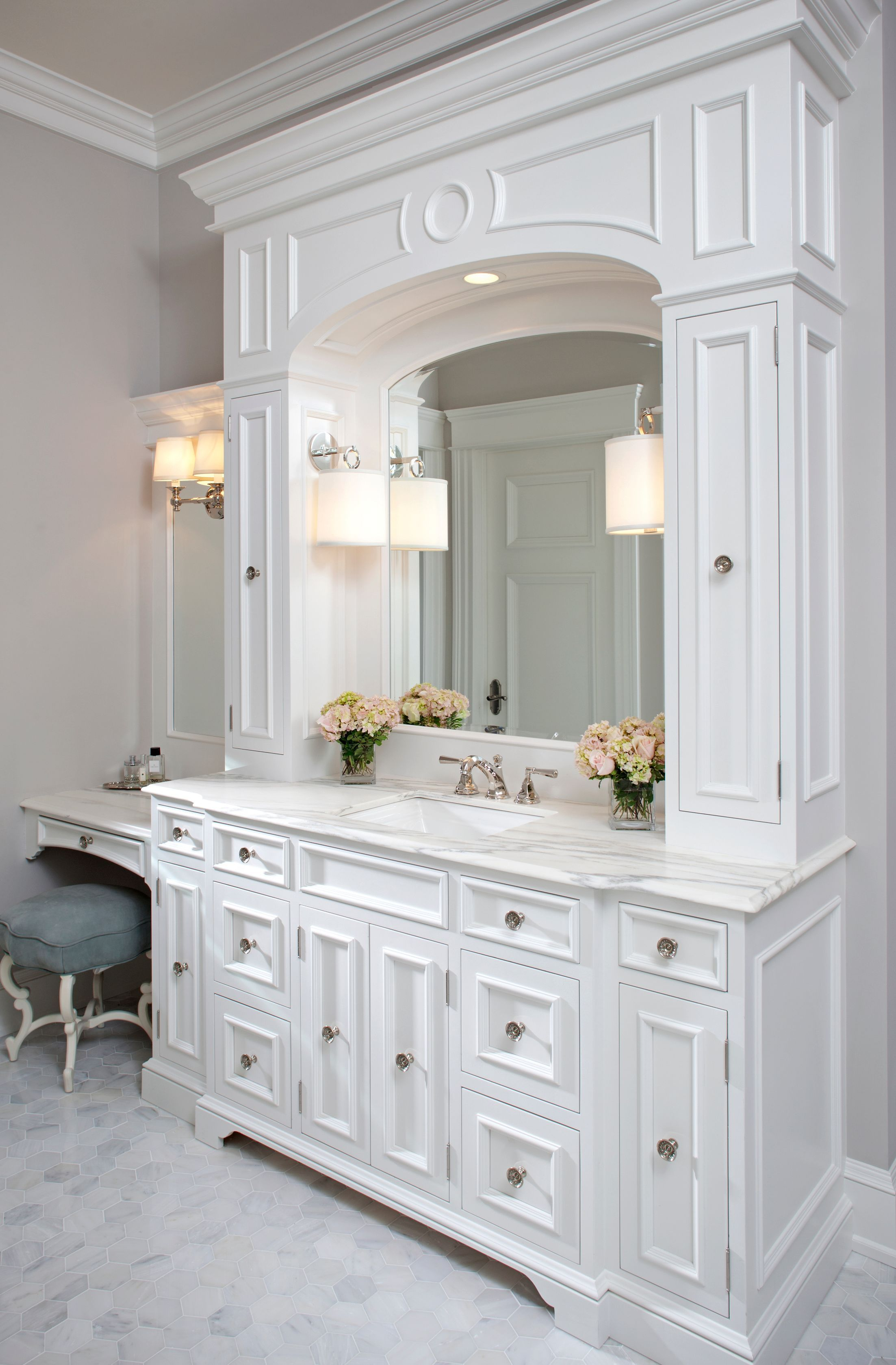 exciting master bathroom white cabinets | Master Bathroom - Traditional - Bathroom - Images by ...