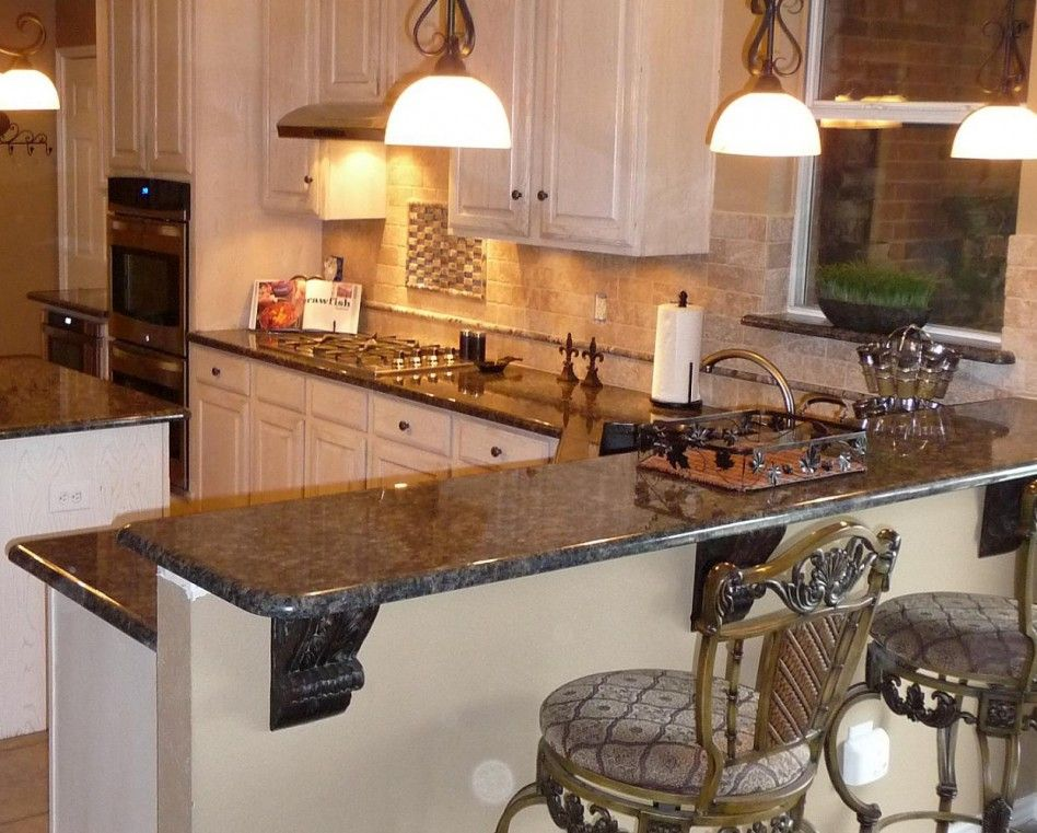 Kitchen, : Lovely Kitchen Decoration With Brick Wall ...
