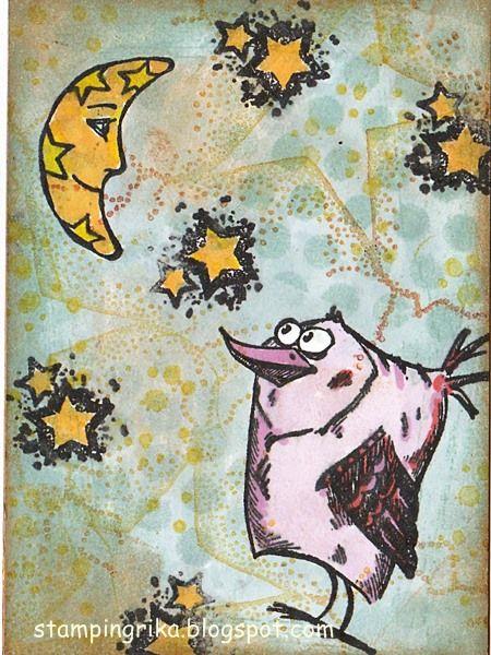 stamping rika: sun, moon, stars