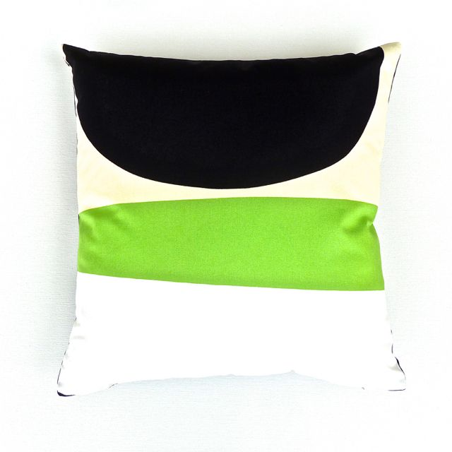 Geometric Cotton Cushion Cover in Green, Cream, White, Black, Beige