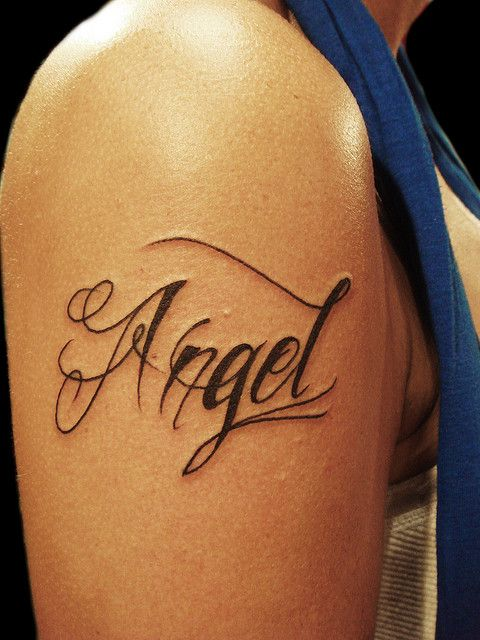 Angel Tattoo Name Tattoo Designs Name Tattoo On Hand My Name Tattoo