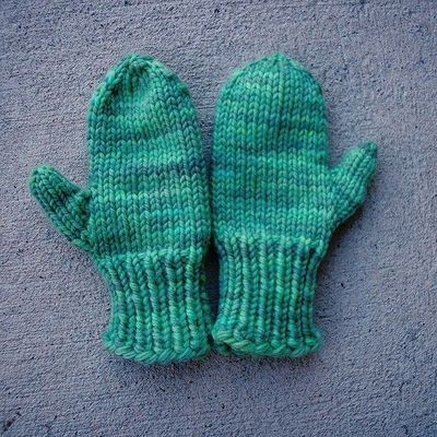 2 Needle Mittens Easy To Work Up Mitten Knitting Crochet