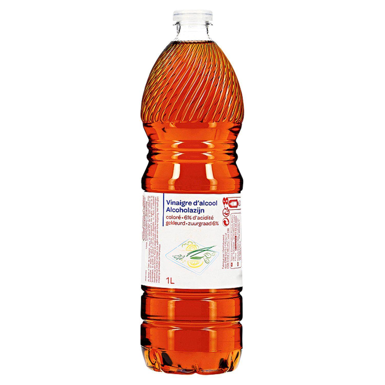 Vinaigre D Alcool Colore La Bouteille D 1l A Prix Vinaigre D Alcool Alcool Et Vinaigre