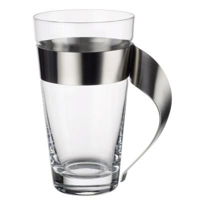 Villeroy & Boch New Wave 16 oz. Glass and Stainless Steel Macchiato Mug 1137373421 - The Home Depot