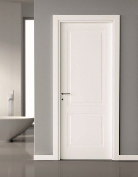 Add trim to plain door more shaker style interior doors panel also seward pinterest bathroom rh