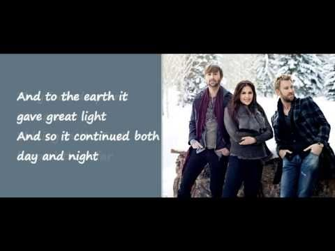 The First Noel - Lady Antebellum (Lyrics on Screen) | Christmas music videos, Lady antebellum ...
