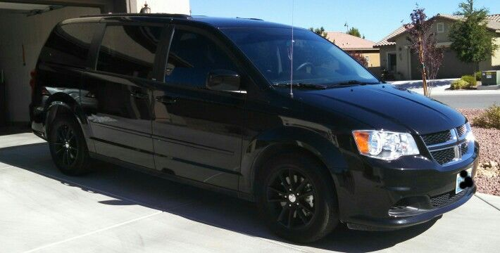 Dodge Grand Caravan Black Plasti Dip Rims Grand Caravan Mini