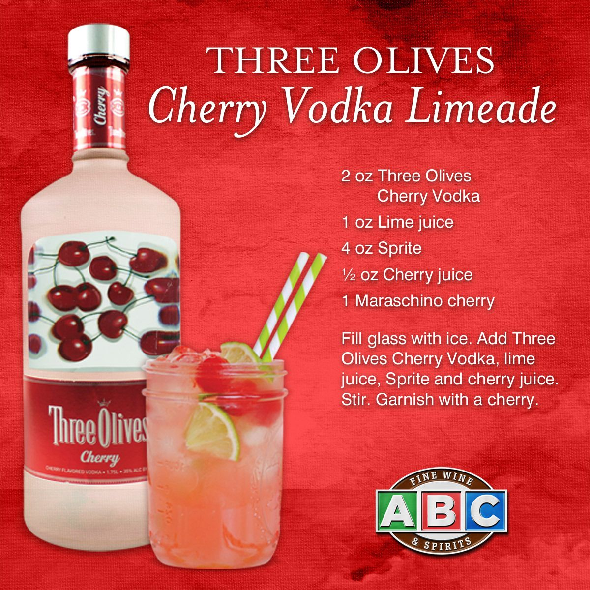 This Three Olives Cherry Vodka Limeade Cocktail Is The