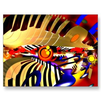 Abstract Surrealism Postcard