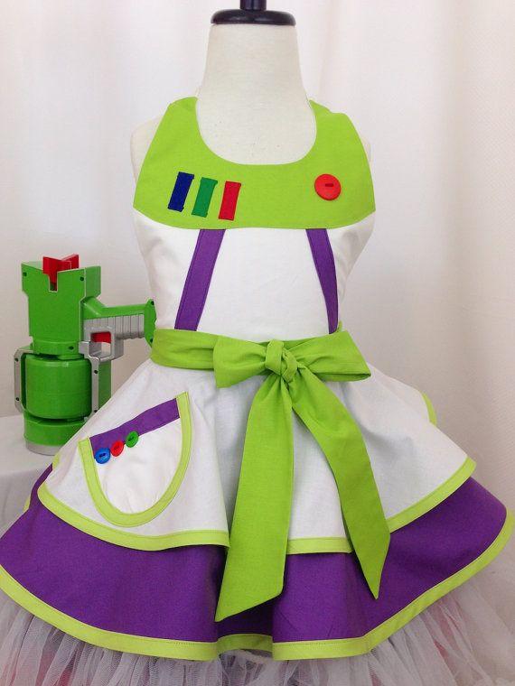 a46e1b2069d4b Girl's Buzz inspired Space Ranger Dress Up Apron, Kid's Apron ...