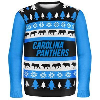 Carolina Panthers Wordmark Ugly Sweater Carolina Panthers