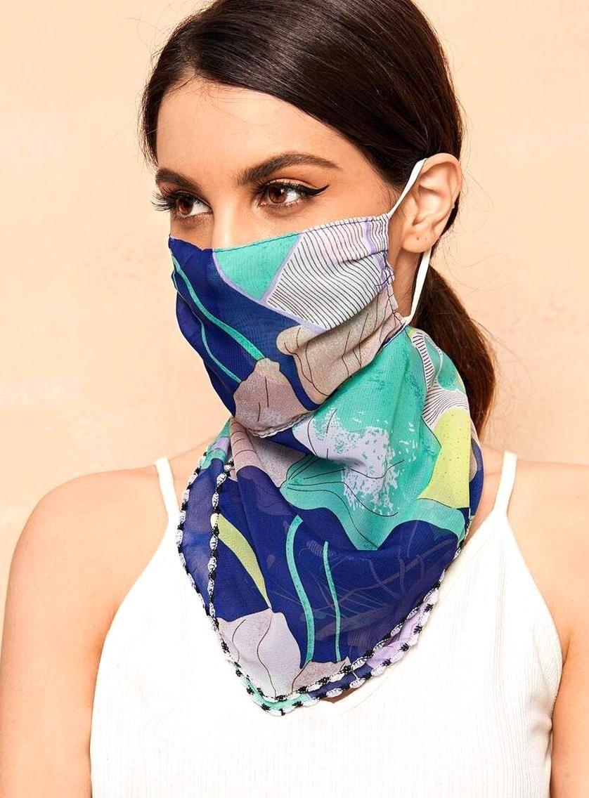 Description beautiful face masks scarf maic no composition