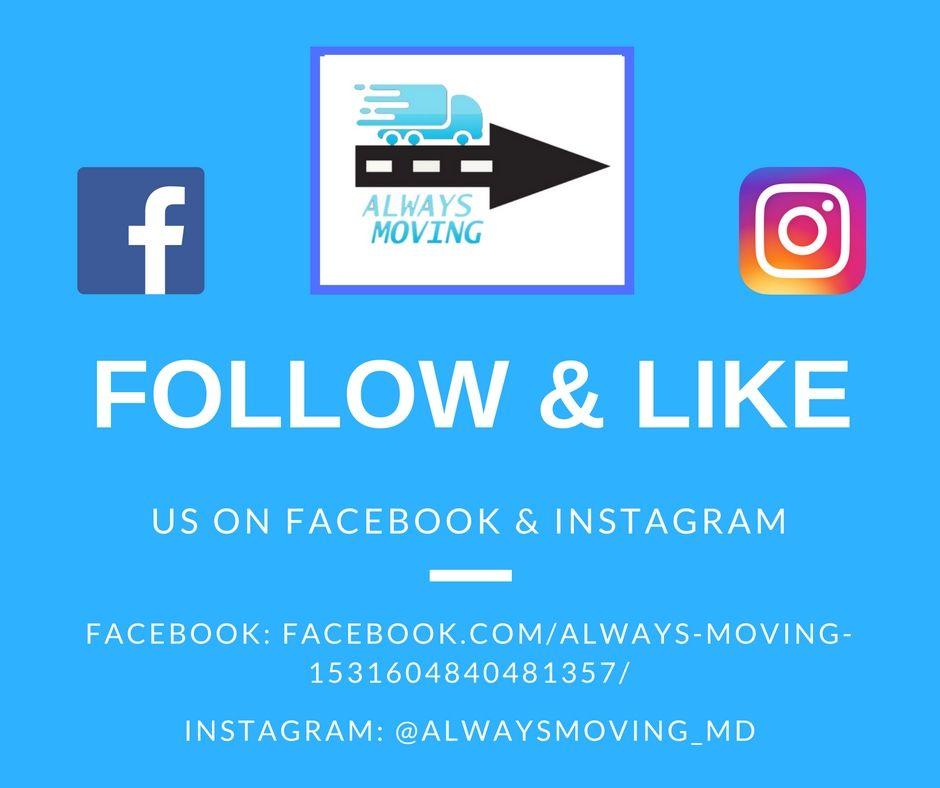 Follow Us On Facebook And Instagram For More Information About Always Moving More Coming Soon To Pinterest Stay Up To Date Moving Company Informative Moving