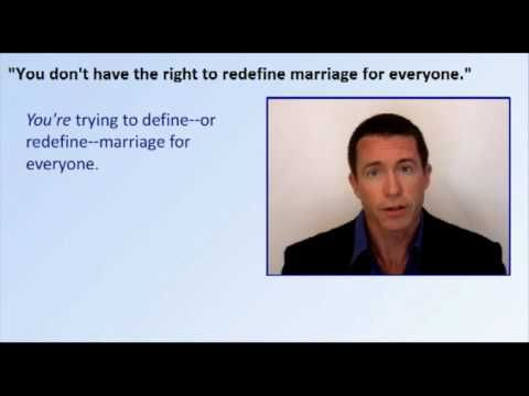 Best arguments against Anti-gay marriage.